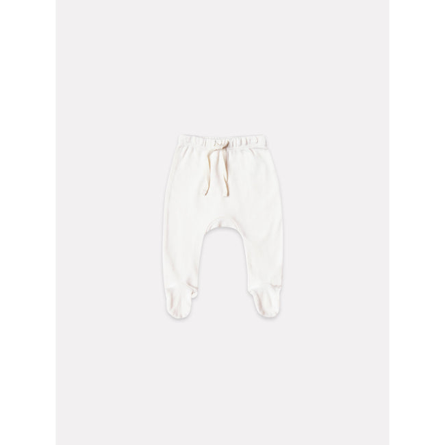 Organic Jersey Kimono Top and Footed Pant - Ivory