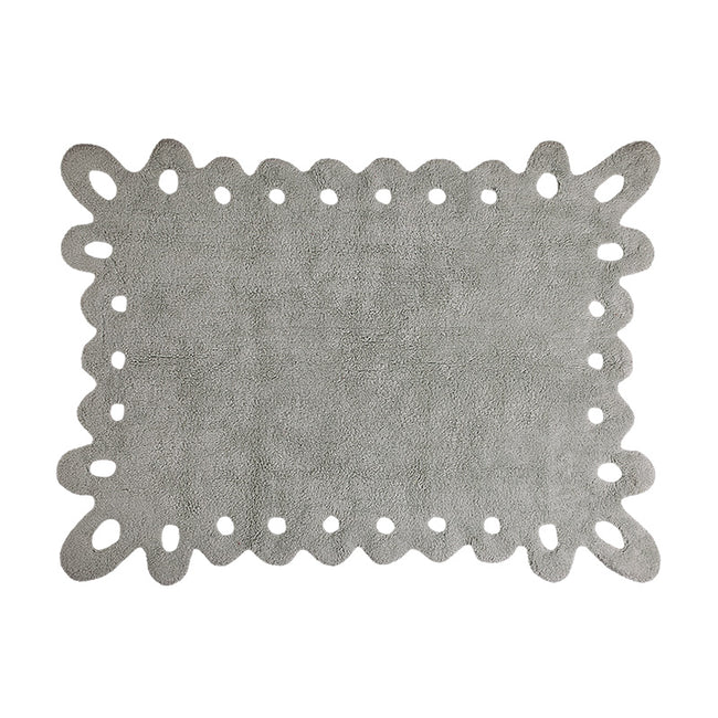 Lace Ice Grey Washable Rug