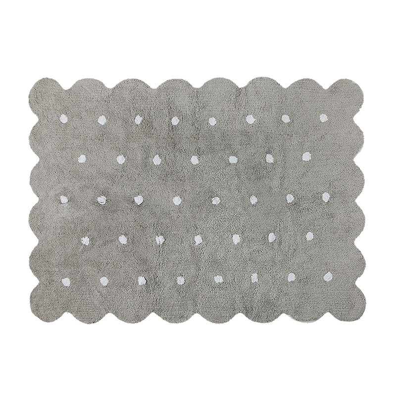 Grey Biscuit Washable Rug