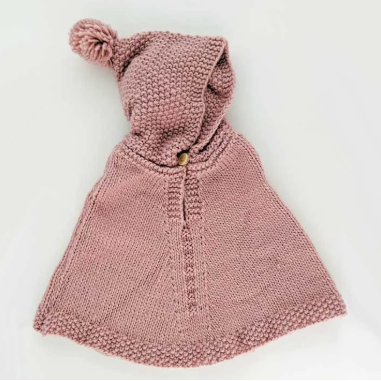 Rosy Hooded Poncho