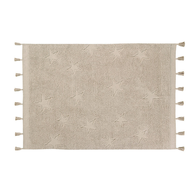 Hippy Stars Natural Washable Rug