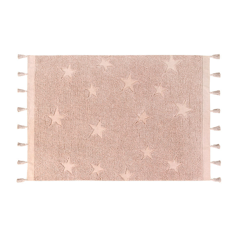 Hippy Stars Vintage Nude Washable Rug