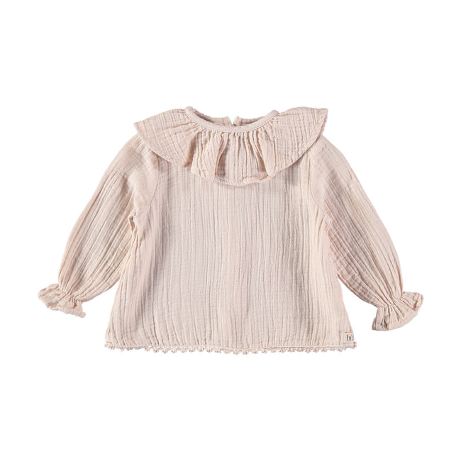 Julieta Cotton Gauze Blouse - Rose