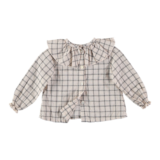 Juliette Collar Blouse - Rose Check
