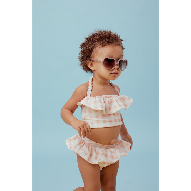 Gingham Ruffle Two-Piece Swimsuit