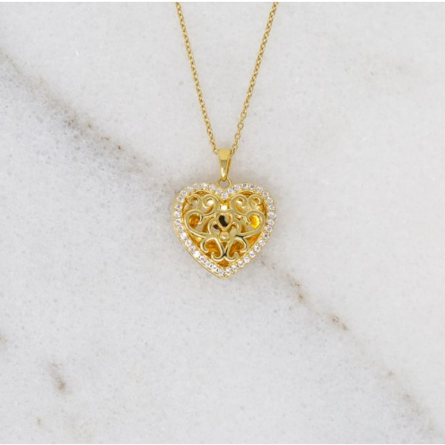 Mary Locket Necklace - Yellow Gold