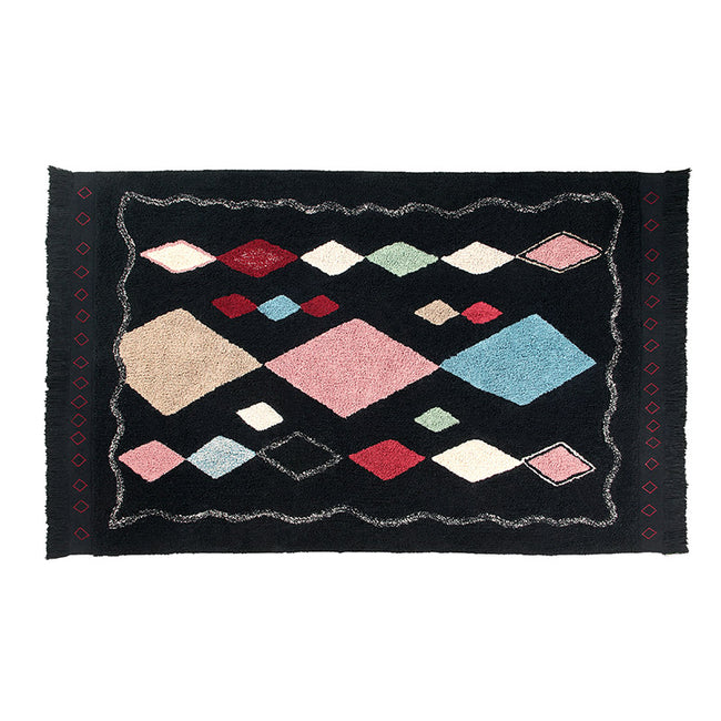 Meknes Black Moroccan Washable Rug