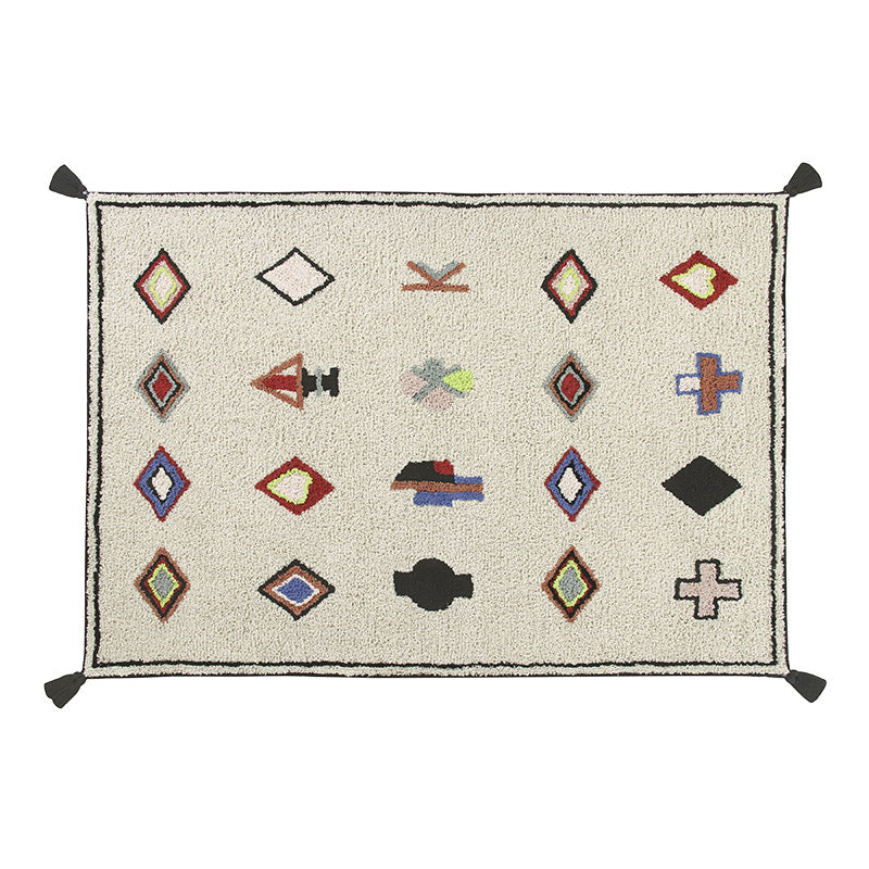 Naador Tassel Washable Rug