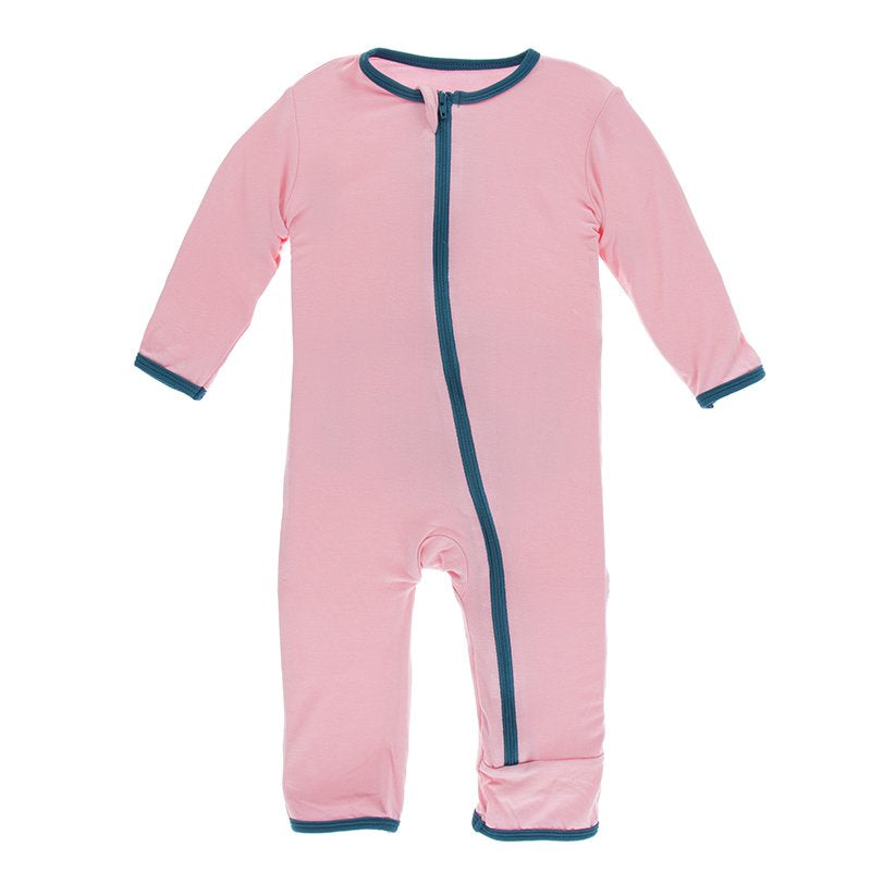 Applique Coverall with Zipper - Lotus Sushi