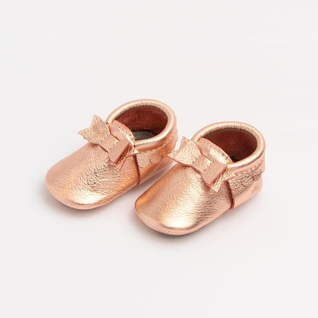 Rose Gold Bow Mini Sole Moccasin