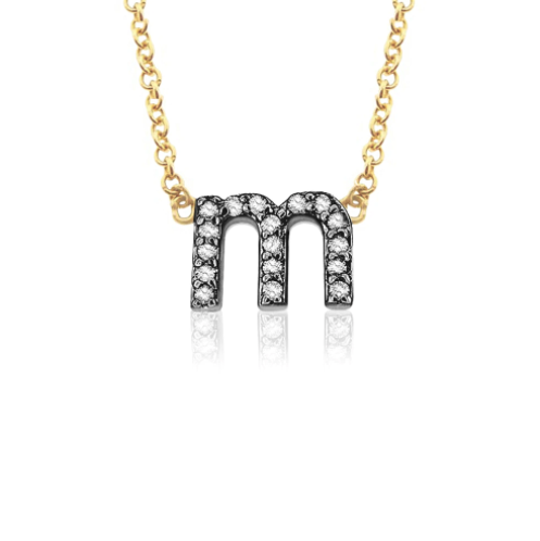 Petite 14K Gold & Diamond Lower Case Initial Necklace