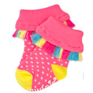 Fringe Polka Dot Socks