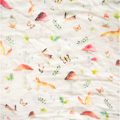 Luxe Muslin Swaddle - Woodland Gnome