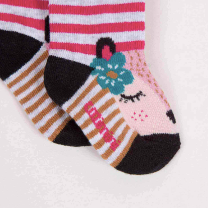 Striped Jacquard Socks