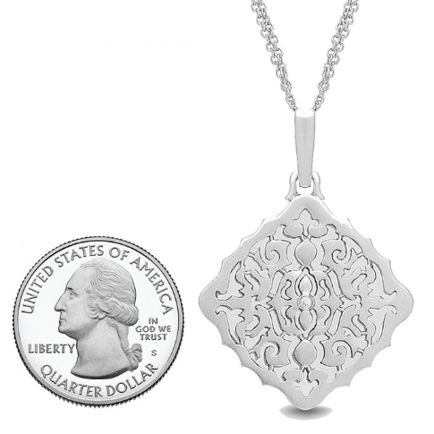 Mimi Locket Necklace - Sterling Silver