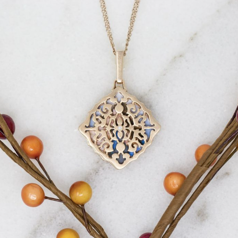 Mimi Locket Necklace - Rose Gold