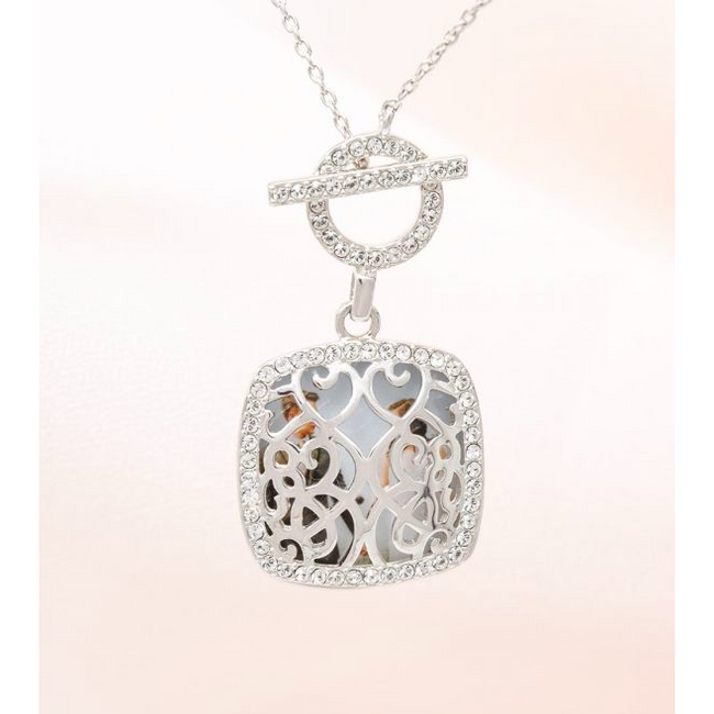 Amelia Locket Necklace - Sterling Siver