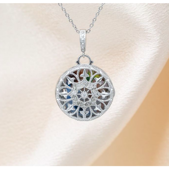 Beatrice Locket Necklace - Sterling Silver