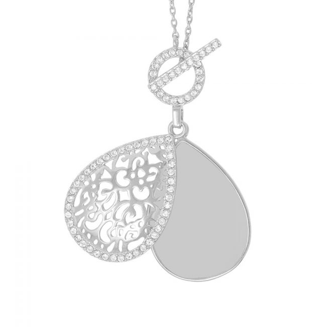 Bella Locket Necklace - Sterling Silver