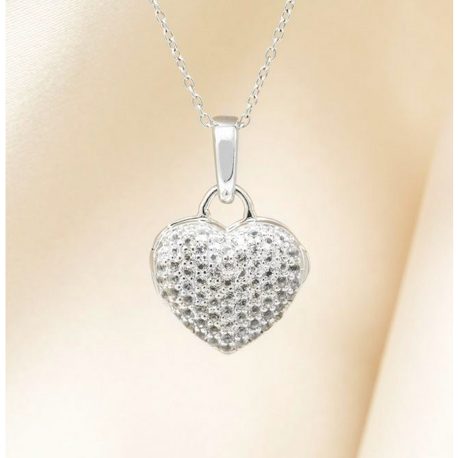 Carly Locket Necklace - Sterling Silver