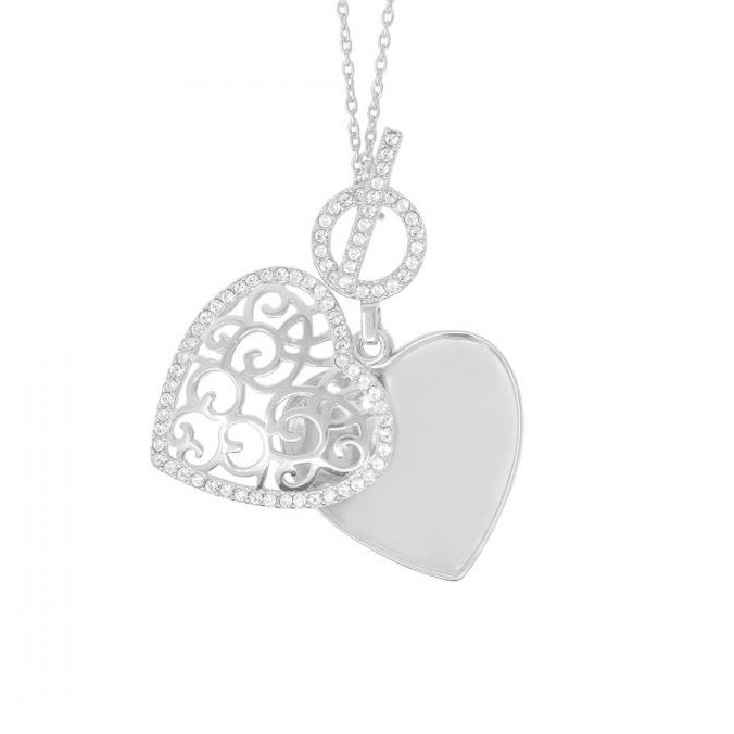 Clara Locket Necklace - Sterling Silver