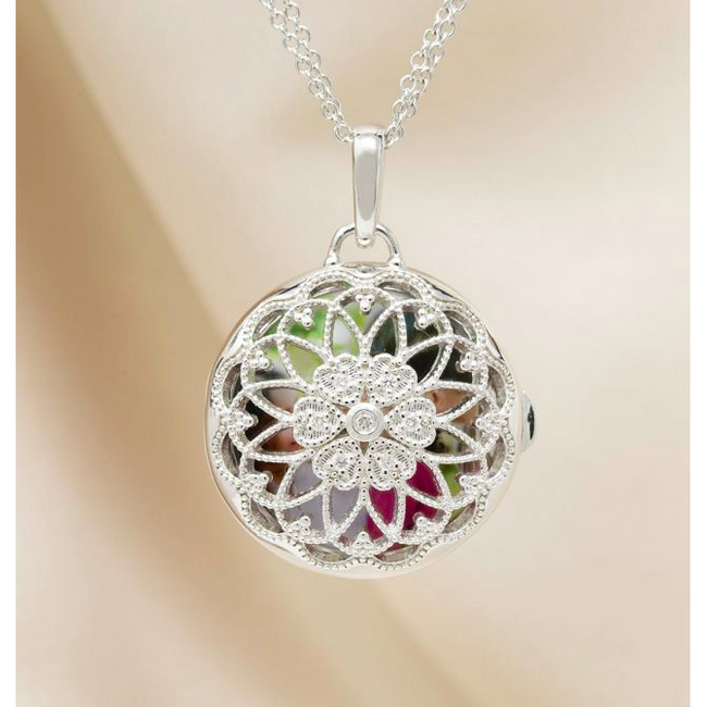 Elaine Locket Necklace - Sterling Silver