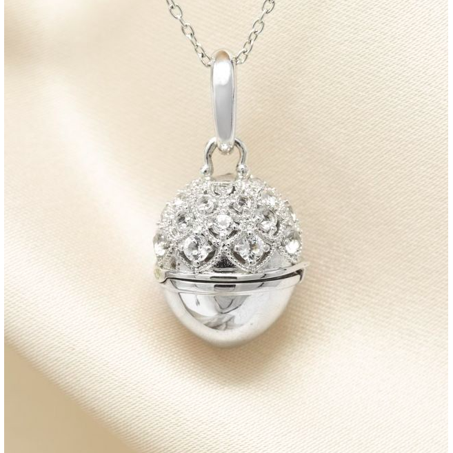 Jeannie Locket Necklace - Sterling Silver