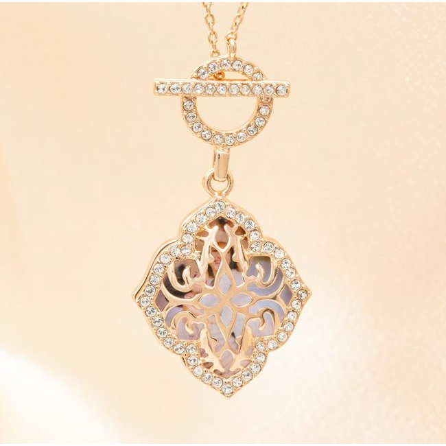 Katarina Locket Necklace - Rose Gold