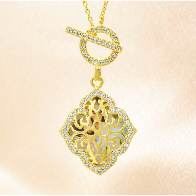 Katarina Locket Necklace - Yellow Gold
