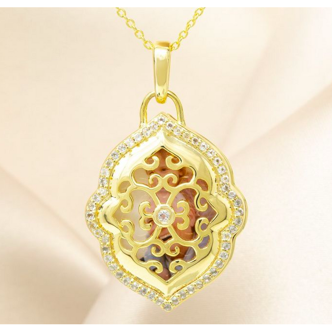 Maggie Locket Necklace - Yellow Gold