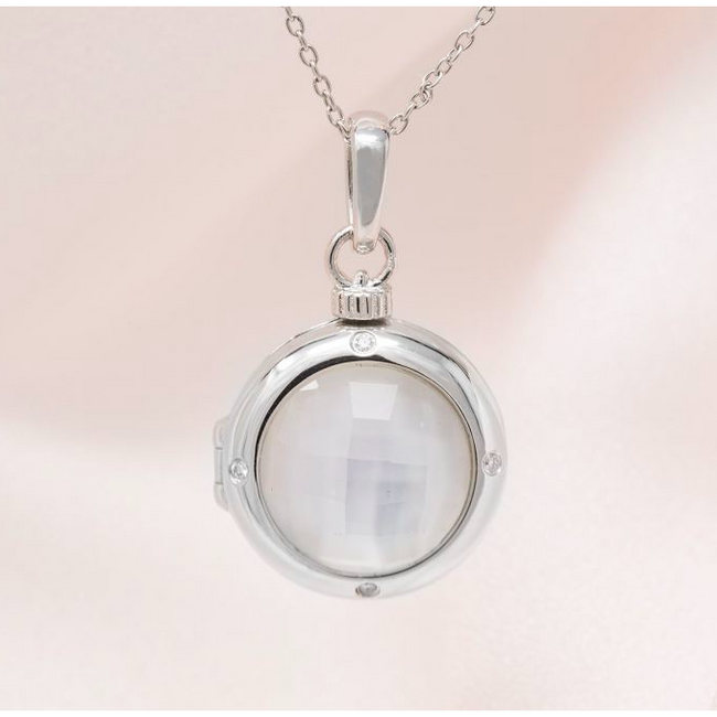 Michelle Locket Necklace - Sterling Silver