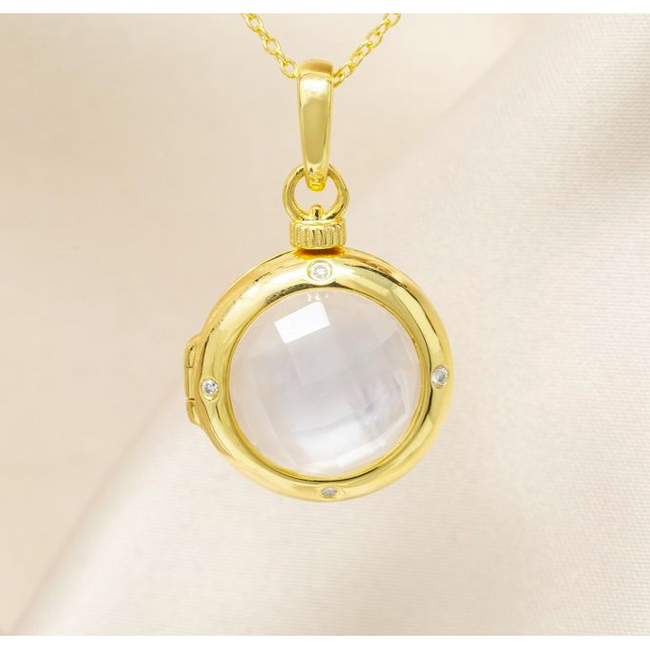 Michelle Locket Necklace - Yellow Gold