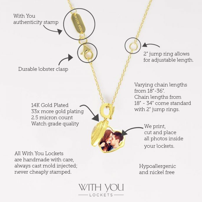 Rose Locket Necklace - Yellow Gold