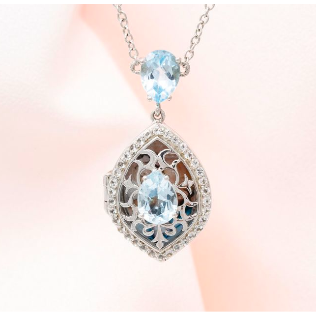 Sadie Locket Necklace - Sterling Silver