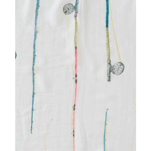 Deluxe Muslin Swaddle Blanket - Rod and Reel