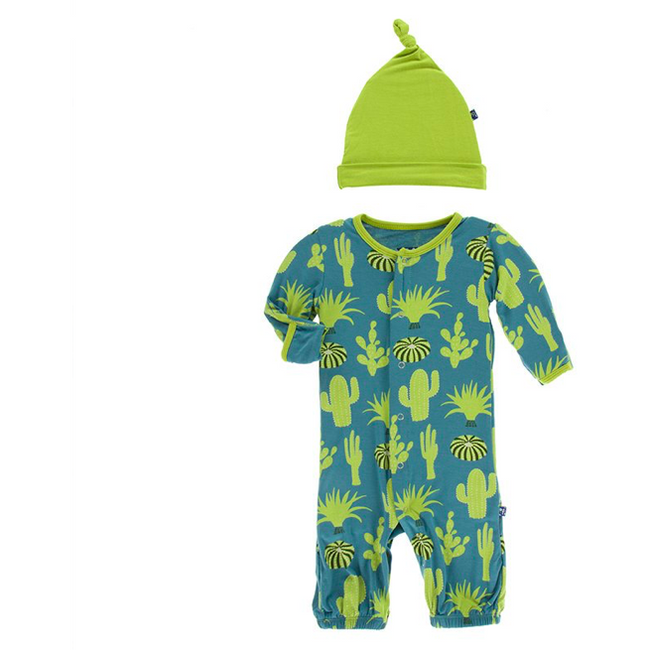 Gown & Single Knot Hat Set - Seagrass Cactus