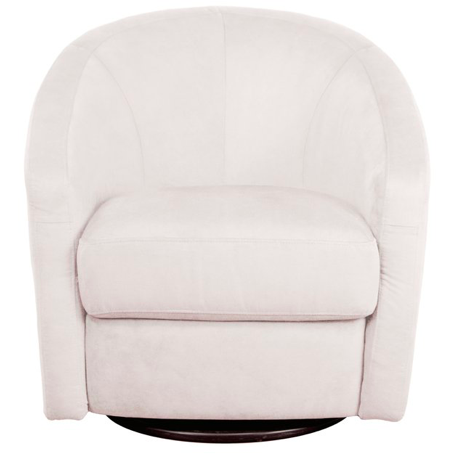 Madison Swivel Glider - Ecru Microsuede