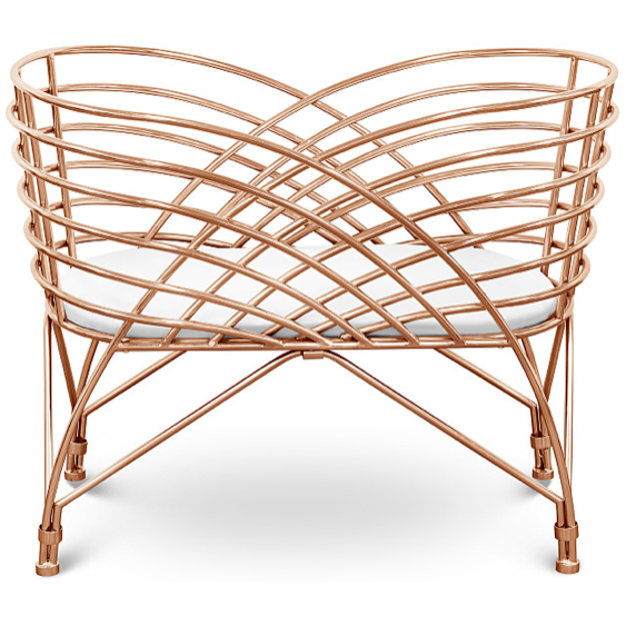 Aura Metal Bassinet - Rose Gold