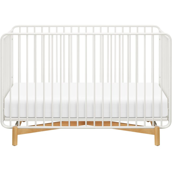 Bixby 3-in-1 Convertible Crib - Warm White/Natural Beech