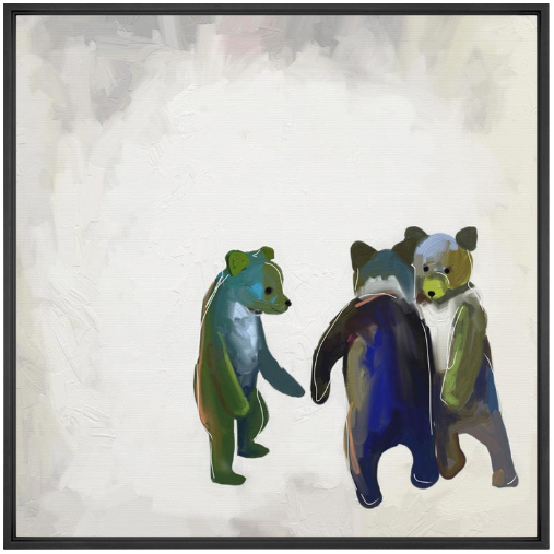Little Dancing Bears Wall Art
