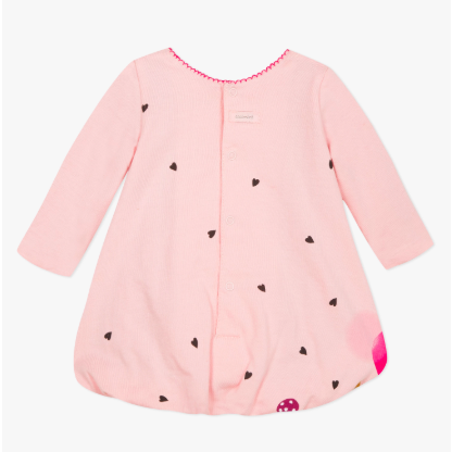 Cotton Bubble Dress - Pink Deer