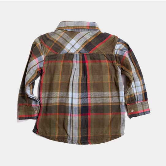 Reversible Plaid Shirt - Khaki