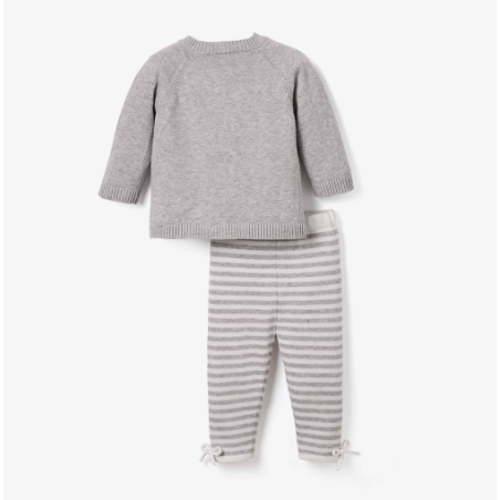 Swan Cardigan & Pant Set - Gray