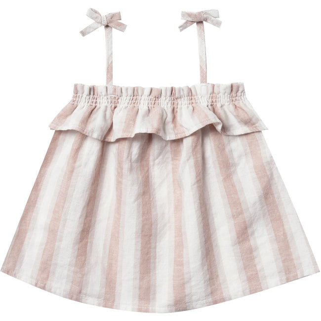 Ruffle Tube Top & Flutter Bloomer Set - Petal Stripe