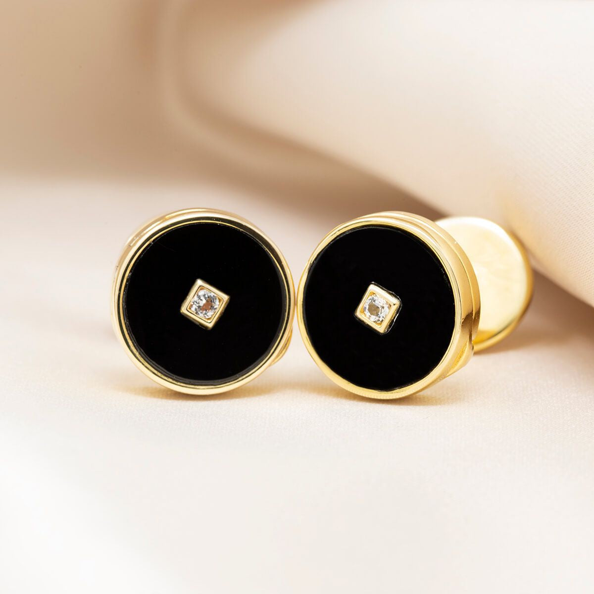 Ryan Locket Cufflinks - Yellow Gold Plated