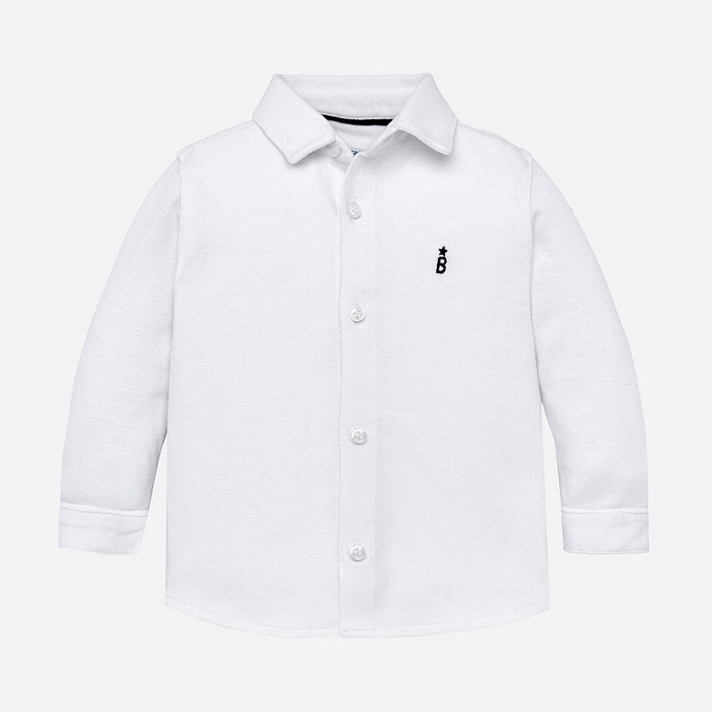 Long Sleeve Button Up Shirt - White