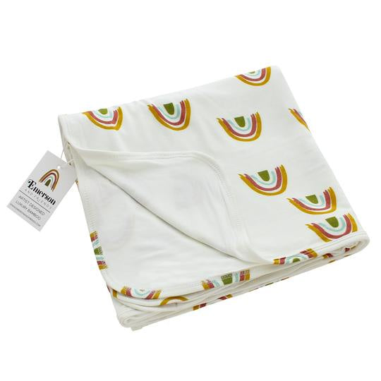 Luxury Bamboo Baby Blanket - Rainbow