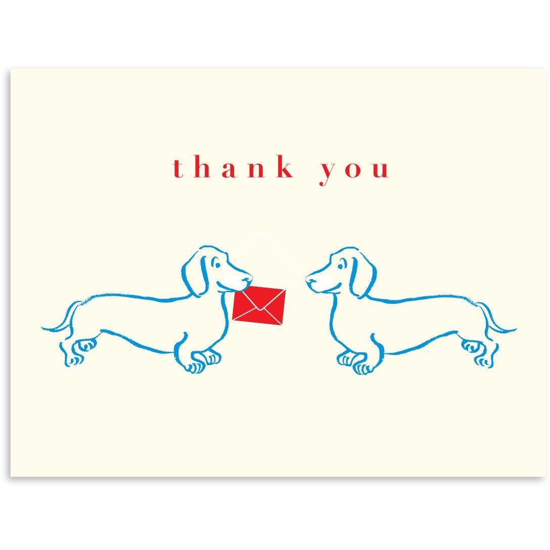 Doxie Thank You Greeting Card