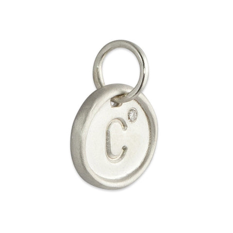 Sterling Custom Charm with Diamond Bezel