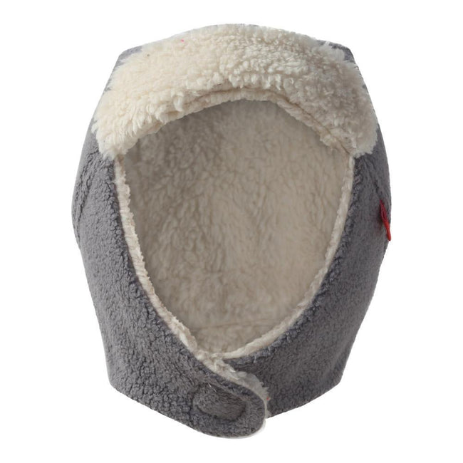 Furry Fleece Trapper Hat - Gray